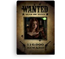 Buffy Willow Wanted 2 Canvas Print