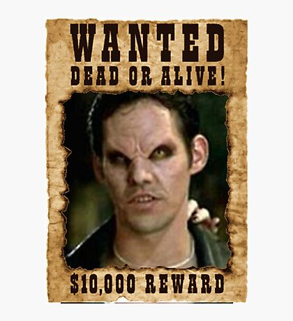 Buffy Xander Wanted Vampire Photographic Print