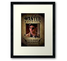 Buffy Xander Wanted 2 Framed Print