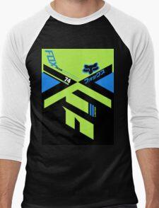 Fox Divizion Black Men's Baseball ¾ T-Shirt