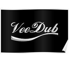 VeeDub - white print Poster