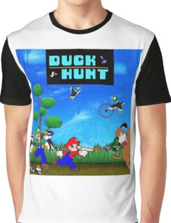 Mario and Luigi : Duck Hunt Graphic T-Shirt