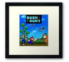 Mario and Luigi : Duck Hunt Framed Print