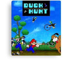 Mario and Luigi : Duck Hunt Canvas Print