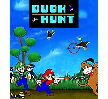 Mario and Luigi : Duck Hunt Photographic Print