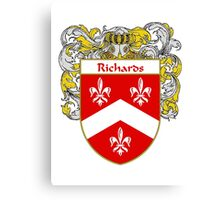 Richards Coat of Arms / Richards Family Crest Canvas Print