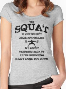 Squat Analogy Women's Fitted Scoop T-Shirt