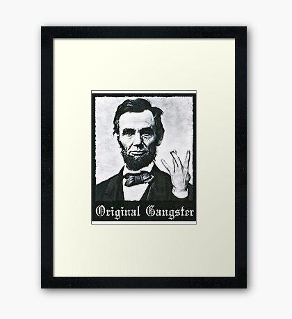 Abraham Lincoln Parody Framed Print