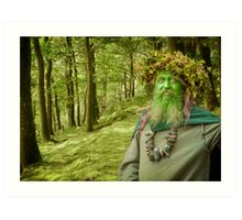 Green Man Of The Woods Art Print
