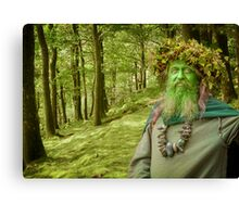 Green Man Of The Woods Canvas Print
