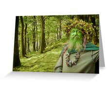 Green Man Of The Woods Greeting Card