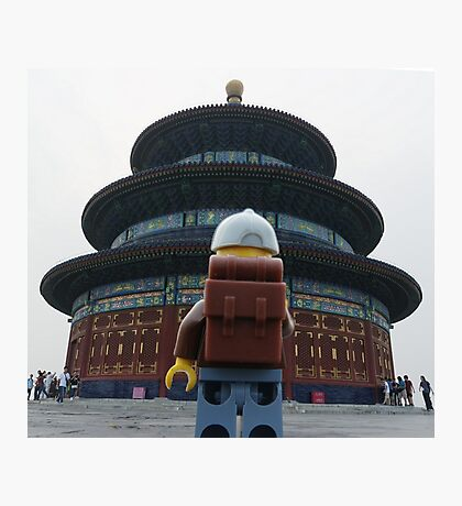 The Lego backpacker Checking out the sites in Beijing Photographic Print