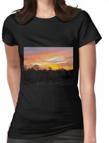 The Skys on Fire Womens Fitted T-Shirt