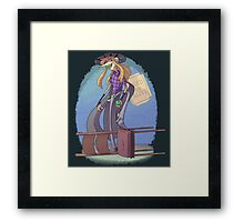 WANTED Framed Print