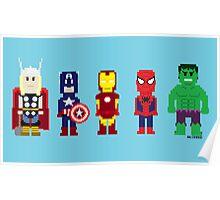 8-Bit Super Heroes! Poster