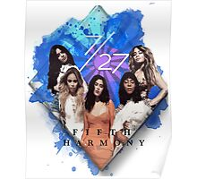Fifth Harmony 7/27 Blue Poster