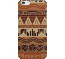 Boho Chic Tribal Leather Look Pattern Browns And Tans iPhone Case/Skin