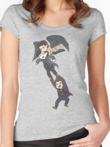 The angel, the sociopath and the timelord Women's Fitted Scoop T-Shirt