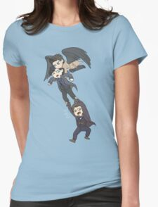 The angel, the sociopath and the timelord Womens Fitted T-Shirt