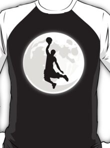Basketball Dunk Moon T-Shirt