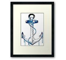 Watercolor Anchor Design Framed Print