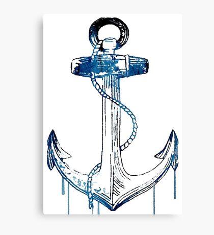 Watercolor Anchor Design Canvas Print