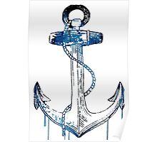 Watercolor Anchor Design Poster