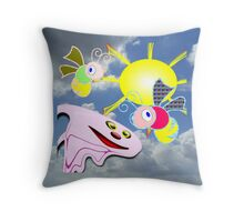 Spooky and his Buzz Friends - pillow & tote Throw Pillow