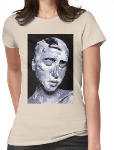 Black and white expressive portrait painting Womens Fitted T-Shirt