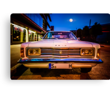 Old Ford Taunus under the moon Canvas Print
