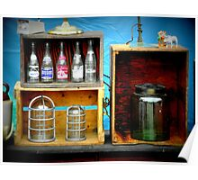 Bottles and Box Poster