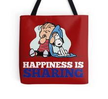 Snoopy and Charlie Brown Quote Tote Bag