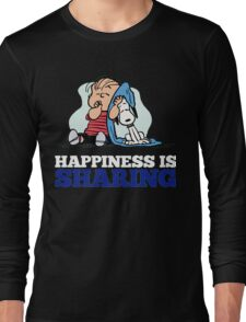 Snoopy and Charlie Brown Quote Long Sleeve T-Shirt
