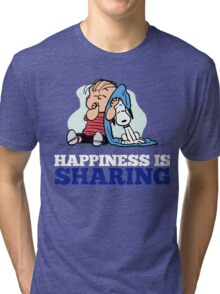 Snoopy and Charlie Brown Quote Tri-blend T-Shirt