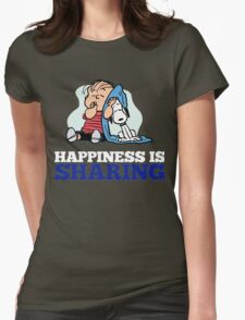 Snoopy and Charlie Brown Quote Womens Fitted T-Shirt