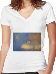 Color Abstraction LXVIII Women's Fitted V-Neck T-Shirt