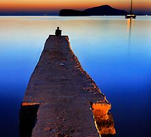 Lonely at Sounion by Hercules Milas