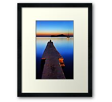 Lonely at Sounion Framed Print