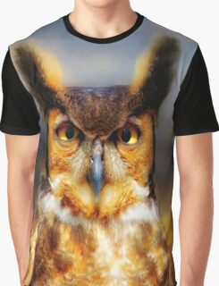 Great Horned Owl Graphic T-Shirt