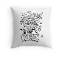 Animals on Board Throw Pillow