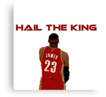 Lebron James The King Canvas Print