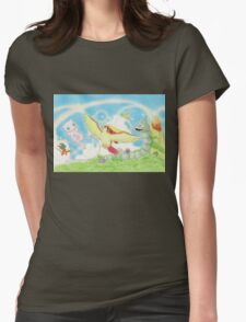 pokemon southern islands artwork Womens Fitted T-Shirt