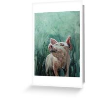 Mighty Fine Pig Greeting Card