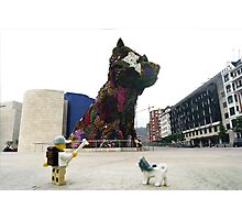 The Lego Backpacker in Bilbao Photographic Print