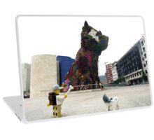 The Lego Backpacker in Bilbao Laptop Skin