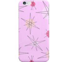 Pink Atomic Era Art iPhone Case/Skin