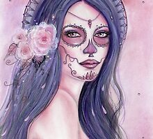 Chantilly Rose day of the dead art by Renee Lavoie by Renee Lavoie