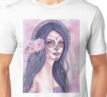 Chantilly Rose day of the dead art by Renee Lavoie Unisex T-Shirt