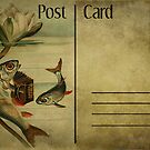Post Card - musical fish by © Kira Bodensted