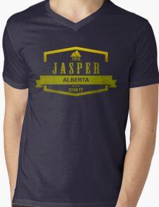 Jasper Ski Resort Alberta Mens V-Neck T-Shirt
